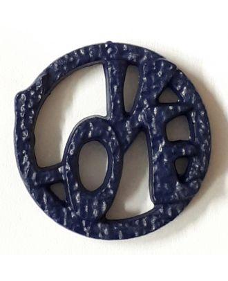 love button - Size: 20mm - Color: navy - Art.No. 282831