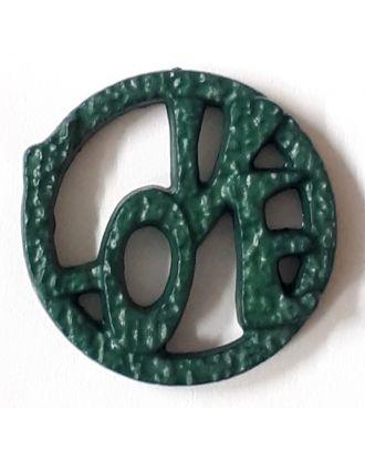 love button - Size: 20mm - Color: olive/dark green - Art.No. 282834