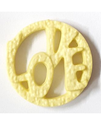 love button - Size: 20mm - Color: yellow - Art.No. 282837