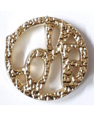 love button - Size: 15mm - Color: gold - Art.No. 270821