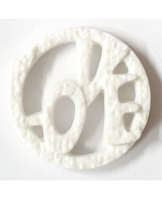 love button - Size: 25mm - Color: white - Art.No. 331153