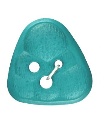 polyamidbutton triangle comb 3-hole - Size: 20mm - Color: green - Art.No. 283805
