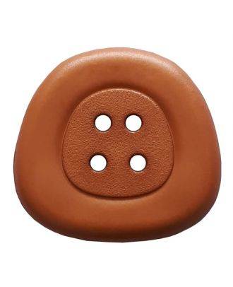 polyamidbutton  4-hole trapezoid - Size: 32mm - Color: brown - Art.No. 373817