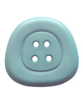 polyamidbutton  4-hole trapezoid - Size: 32mm - Color: light blue - Art.No. 373818