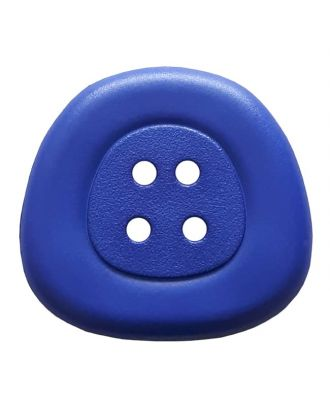 polyamidbutton  4-hole trapezoid - Size: 32mm - Color: royal blue - Art.No. 373819