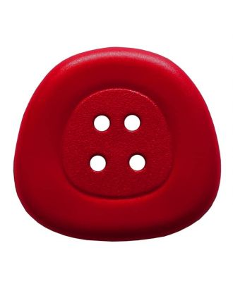 polyamidbutton  4-hole trapezoid - Size: 32mm - Color: red - Art.No. 373826