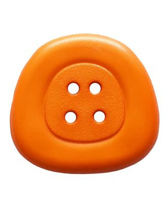 polyamidbutton  4-hole trapezoid - Size: 25mm - Color: orange - Art.No. 333828