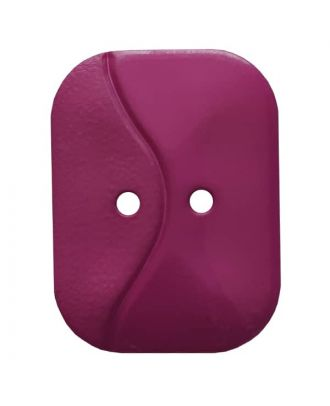 oblong polyamide button with 2 holes and wave - Size: 32mm - Color: purple - Art.No. 374805