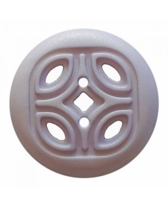 round polyamide button with 2 holes and open ornament - Size: 20mm - Color: blue - Art.No. 314817