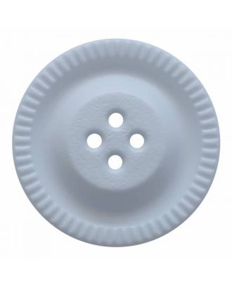 round polyamide button with 4 holes and gear on the edge - Size: 18mm - Color: blue - Art.No. 284803