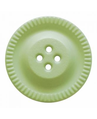 round polyamide button with 4 holes and gear on the edge - Size: 23mm - Color: green - Art.No. 334829