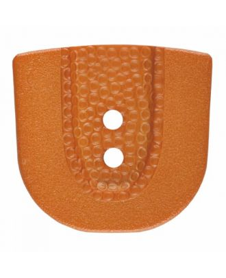 polyamide button in horseshoe shape with two holes - Size: 20mm - Color: brown - Art.No. 315803