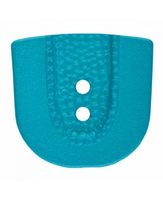 polyamide button in horseshoe shape with two holes - Size: 25mm - Color: blue - Art.No. 345804