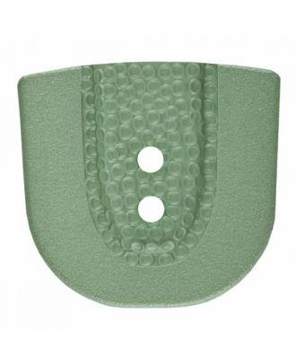 polyamide button in horseshoe shape with two holes - Size: 30mm - Color: green - Art.No. 385807