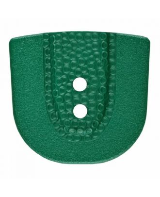 polyamide button in horseshoe shape with two holes - Size: 30mm - Color: green - Art.No. 385808