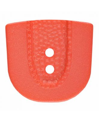 polyamide button in horseshoe shape with two holes - Size: 20mm - Color: pink - Art.No. 315809