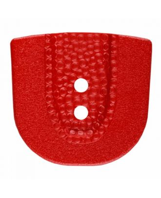 polyamide button in horseshoe shape with two holes - Size: 30mm - Color: red - Art.No. 385810
