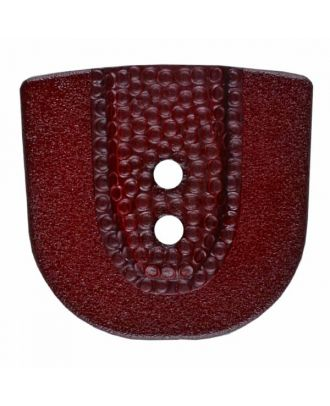 polyamide button in horseshoe shape with two holes - Size: 30mm - Color: winered - Art.No. 385811