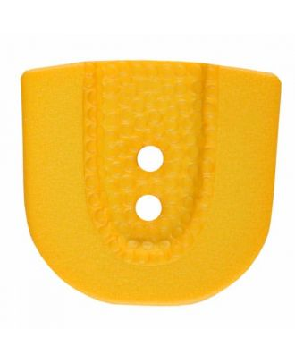 polyamide button in horseshoe shape with two holes - Size: 25mm - Color: yellow - Art.No. 345812