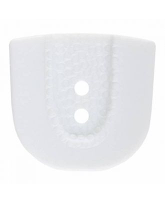 polyamide button in horseshoe shape with two holes - Size: 30mm - Color: white - Art.No. 380386