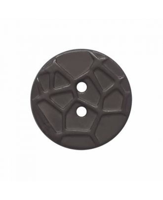 round small polyamide button with raised spider web and 2 holes  - Size: 13mm - Color: grey - Art.No. 224800