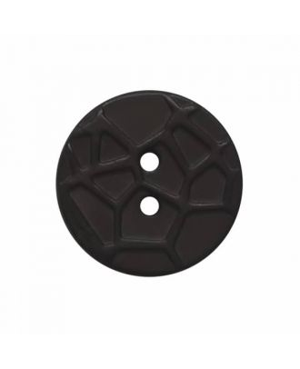 round small polyamide button with raised spider web and 2 holes  - Size: 13mm - Color: black - Art.No. 221906