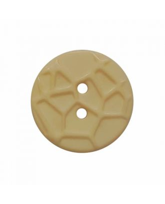round small polyamide button with raised spider web and 2 holes  - Size: 13mm - Color: beige - Art.No. 224801