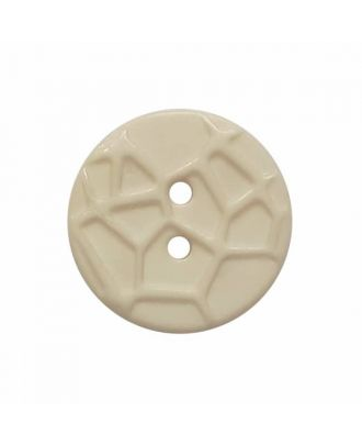 round small polyamide button with raised spider web and 2 holes  - Size: 13mm - Color: beige - Art.No. 224802