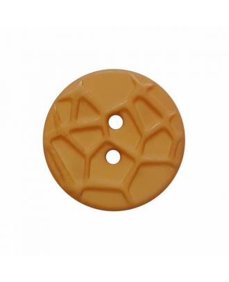 round small polyamide button with raised spider web and 2 holes  - Size: 13mm - Color: beige - Art.No. 224803