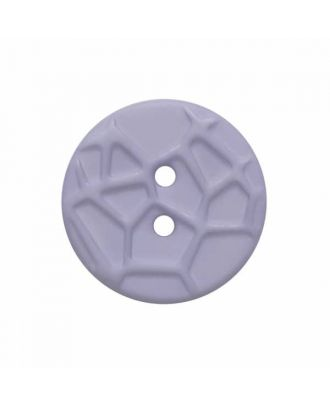 round small polyamide button with raised spider web and 2 holes  - Size: 13mm - Color: blue - Art.No. 224806
