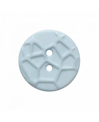 round small polyamide button with raised spider web and 2 holes  - Size: 13mm - Color: blue - Art.No. 224807