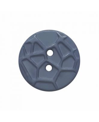round small polyamide button with raised spider web and 2 holes  - Size: 13mm - Color: blue - Art.No. 224808