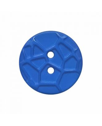 round small polyamide button with raised spider web and 2 holes  - Size: 13mm - Color: blue - Art.No. 224809