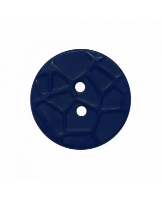 round small polyamide button with raised spider web and 2 holes  - Size: 13mm - Color: blue - Art.No. 224810