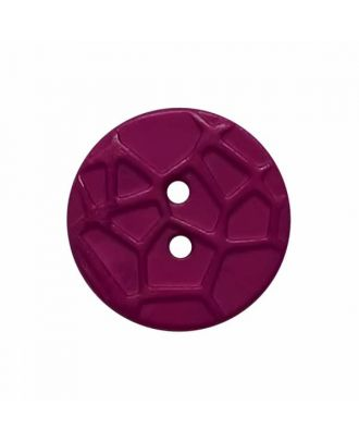 round small polyamide button with raised spider web and 2 holes  - Size: 13mm - Color: purple - Art.No. 224811