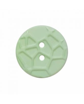 round small polyamide button with raised spider web and 2 holes  - Size: 13mm - Color: green - Art.No. 224812