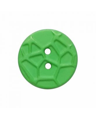round small polyamide button with raised spider web and 2 holes  - Size: 13mm - Color: green - Art.No. 224813