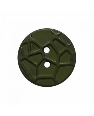 round small polyamide button with raised spider web and 2 holes  - Size: 13mm - Color: green - Art.No. 224814
