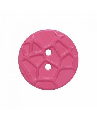 round small polyamide button with raised spider web and 2 holes  - Size: 13mm - Color: pink - Art.No. 224815