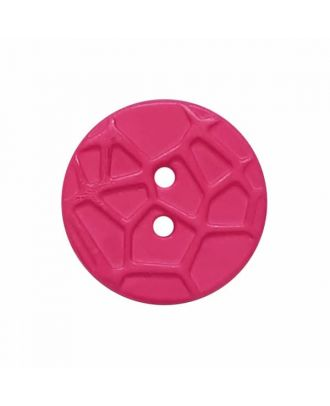 round small polyamide button with raised spider web and 2 holes  - Size: 13mm - Color: pink - Art.No. 224816
