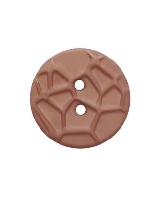 round small polyamide button with raised spider web and 2 holes  - Size: 13mm - Color: pink - Art.No. 224817