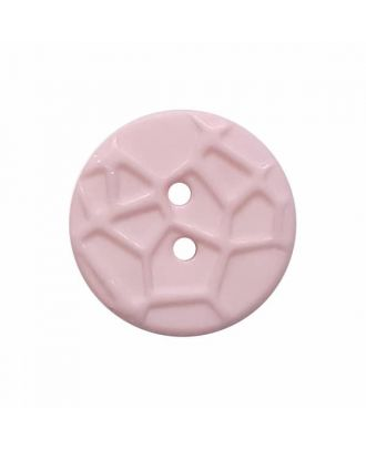 round small polyamide button with raised spider web and 2 holes  - Size: 13mm - Color: pink - Art.No. 224818
