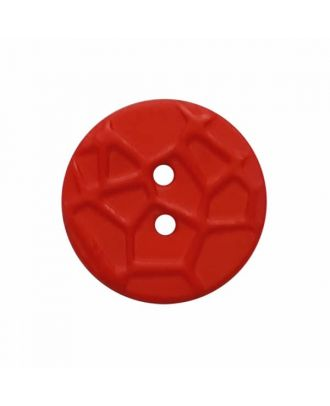 round small polyamide button with raised spider web and 2 holes  - Size: 13mm - Color: red - Art.No. 224819