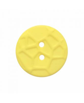 round small polyamide button with raised spider web and 2 holes  - Size: 13mm - Color: yellow - Art.No. 224820