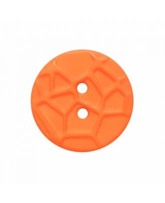 round small polyamide button with raised spider web and 2 holes  - Size: 13mm - Color: orange - Art.No. 224821