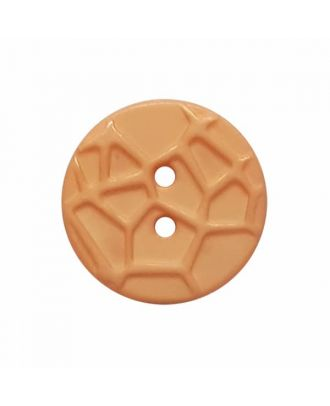 round small polyamide button with raised spider web and 2 holes  - Size: 13mm - Color: orange - Art.No. 224822