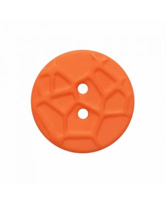 round small polyamide button with raised spider web and 2 holes  - Size: 13mm - Color: orange - Art.No. 224823