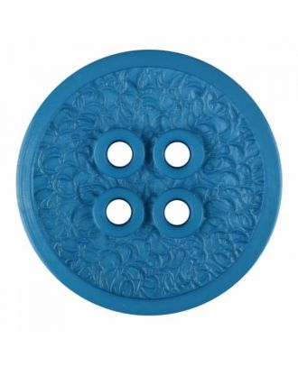 polyamide button with a fine edge and surface relief and four holes - Size: 34mm - Color: blue - Art.No. 375802