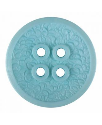 polyamide button with a fine edge and surface relief and four holes - Size: 34mm - Color: green - Art.No. 375804