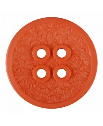 polyamide button with a fine edge and surface relief and four holes - Size: 34mm - Color: pink - Art.No. 375809